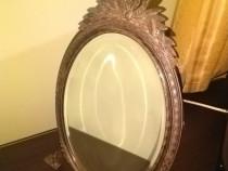 Oglinda cristal cu rama de argint, vintage