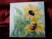 Flori 2-pictura ulei pe panza