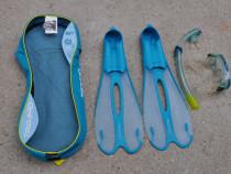 Kit scufundare Tribord Caraibes 500,ochelari,tub,labe 35-36