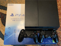 PS 4 Ultimate Player Edition 1 TB + 10 jocuri negociabil.