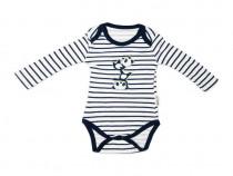 Body B15 | Body baieti | Body alb si negru bebe | Body sport