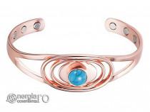 Brăţară Magnetică Energetică din CUPRU cu Turcoaz - BRA063