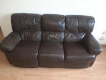 Canapea modernă din piele naturală