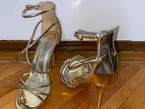 Sandale TUNIA aurii- SCARPETI