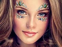 Cristale adezive pt machiaj facial