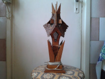 Veioza veche din lemn lucrata manual