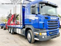Camion forestier 6x4 Scania macara Z+avans de la 0%