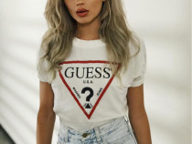 Tricou alb Guess Original
