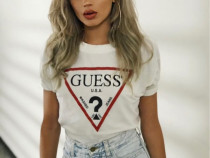 Tricou alb Guess Original