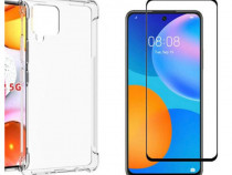 Samsung A21S A41 S20FE A51 A71 5G Husa Carbon Neagra + Folie