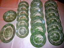Set farfurii portelan englezesc IRONSTONE verde