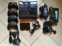 Xbox 360: Consola, alimentator, controllere, HDMI, HDD 500GB