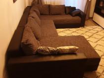 Canapea extensibila Mobexpert cu lada depozitare