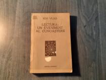 Lectura un eveniment al cunoasterii Ion Vlad