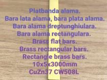 Platbanda alama 10x5x3000 CuZn39Pb3 bara lata aluminiu inox