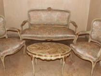 Salon/canapea cu fotolii Ludovic/Louis/baroc venetian