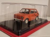 Macheta Polski Fiat 126P Maluch 1973 - Hachette 1/24