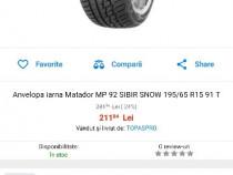 Jante 5x100 +cauciucuri de iarna Matador 195/65/15