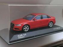 Macheta Audi A4 B8 2008-2012 rosu - Minichamps 1/43