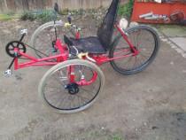 Tricicleta inversata recumbent trike