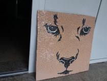 Tablou mozaic ceramica Felina