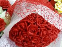 Buchet trandafiri de săpun rosii