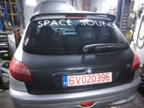 Haion cu luneta si eleron Peugeot 206