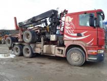 .Camion forestier Scania sau schimb.