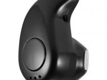 Mini casca Bluetooth 10m invizibila Handsfree Negru C257
