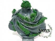 Bust roman decorat cu licheni si plante stabilizate