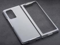 Samsung Z FLIP - Husa Din Plastic Slim Imitatie Piele Neagra