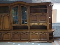 Biblioteca din lemn masiv nuc