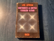 Contributiila critica teoriilor elitare Liviu Zapirtan