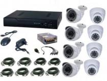 Kit supraveghere video 8 camere 2.0MPxl + DVR Ak9068C