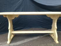 Masa,scaun din lemn pentru foisor,gradina