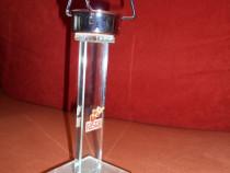 Candela din sticla si inox pentru lumanari