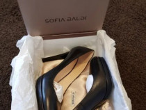 Pantofi negri de piele, cu toc - SOFIA BALDI