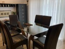 6 scaune piele naturala wenge dining - boston mobexpert