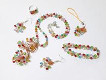 Set Culori si veselie, handmade din margele, multicolor