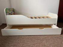 Pat copii 140x70 cu sertar