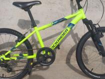 "Bicicleta MTB Rockrider ST 500 VERDE NEON 20"" COPII 6-9 ANI"