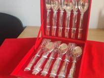 Set linguri si furculite din cupru masiv