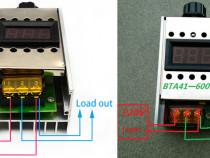 Variator turatie c.a. 4000W 220V AC+voltmetru. Nou ambala