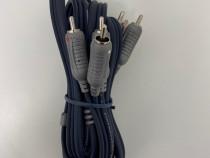 Cablu Video Bandridge 3x RCA Barbat - 3x RCA Barbat 1.5m