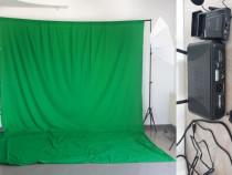 Chroma 3x5m.Lumini studio+2tripod+2umbrele+casti_receptor