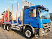 Camion transport lemn 6x4 Mercedes macara Z-livrare fara TVA