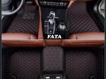 Covorase auto LUX PIELE 5D VW Passat B8 neru cu rosu sau bej
