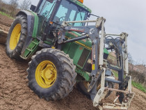 Tractor John Deere 6600 cu incarcator frontal faucheux