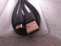Cablu de date incarcare microUSB 1,2m 2A NOU 15lei/2cabluri