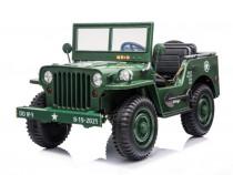 Masinuta electric AMERICAN Jeep Army 4X4 PENTRU 3 COPII